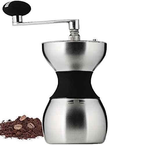 Ręczny młynek do kawy Przenośny młynek do kawy z zadziorami Regulowany ceramiczny stożkowy żarna do HomeOffice Podróżowanie ręczny młynek ze stali nierdzewnej