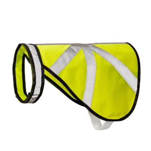 2-TECH Hunde Warnweste Schutz und Reflektorweste neon Größe L