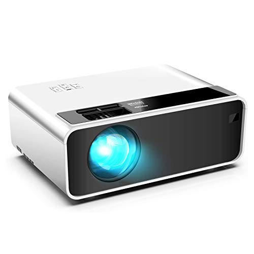 Portable Projector Led Video Projector 50,000 Hrs Long Life Led Portable Home Cinema Projector 1080p Supported, Compatible with Ps4, Pc Via Hdmi, Vga, Tf, Av, and Usb Black
