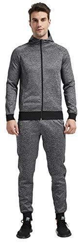 Wisdom Wolf Chándal para hombre con capucha y cremallera de manga larga, pantalones deportivos