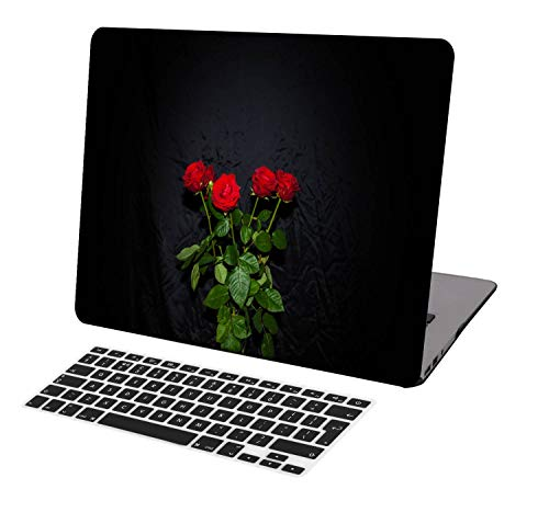 Laptop Case for New MacBook Pro 13 inch A2338 M1/A2289/A2251/A2159/A1989/A1706/A1708,Neo-wows(2 in 1 Bundle) Plastic Hard Shell Cover UK Keyboard Cover Compatible MacBook Pro 13 inch,Rose 0931