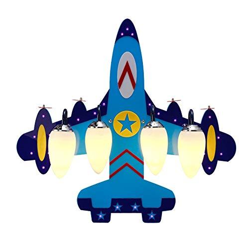 MGWA luz de techo Azul Lindo Creativo Avión Modelado Lámpara Led Protección de Ojos en el aula de dibujos animados de la Lámpara de Techo de la Habita...