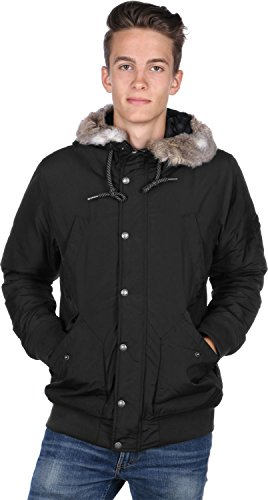 Bench Herren Parka Jacke WRESTLE, Schwarz (Black BK014), Gr. Small