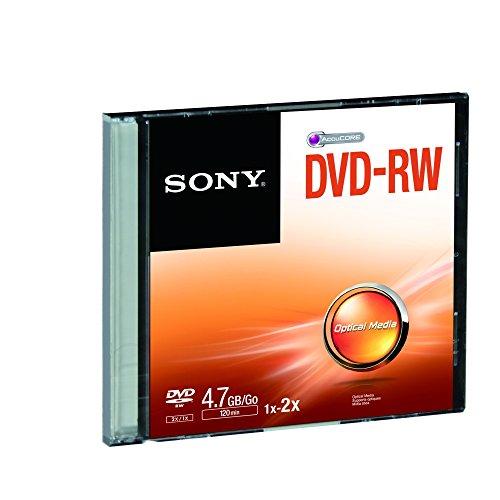 Sony dmw47ss–DVD-RW Rohling mit Kapazität von bis zu 4,7GB