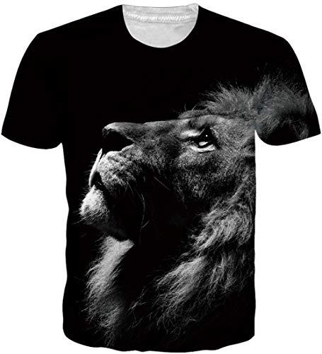 Loveternal T-Shirt Bunt 3D Tee Shirt Casual Grafik Sommer Kurzarm Tops Tees Shirt XXL