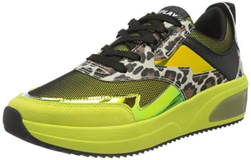 REPLAY Flow-Deans, Zapatillas para Mujer, Amarillo (Yellow 87), 36 EU