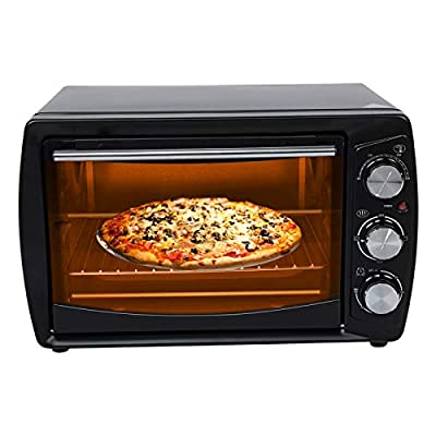20L Electric Toaster Oven Extra Wide Convection Countertop Toaster Oven with Bake Pan Bake Tray Clip Multi-function Toaster Oven with Timer Household Baking Machine Kitchen Appliances(US)