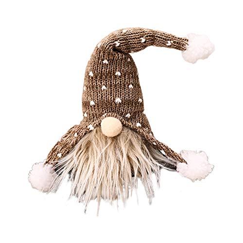 Zwerg Weihnachten Ornamente skandinavische Santa Tomte Glocke Hut hängende Weihnachtsbaum Kamin Heimdekoration