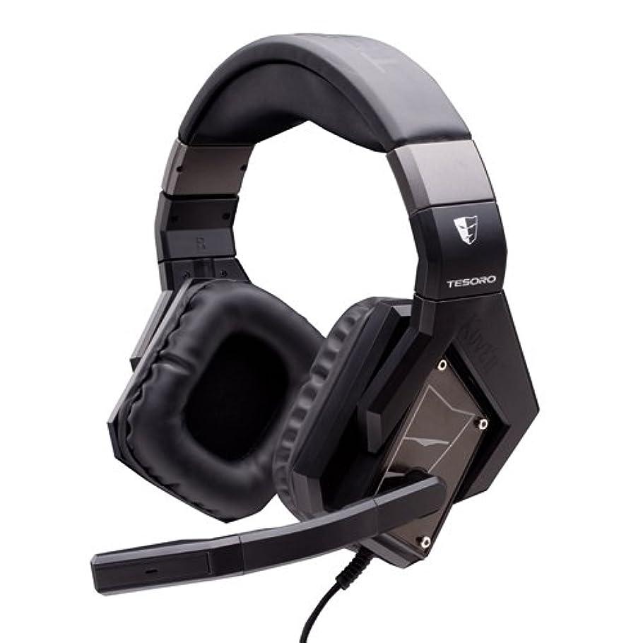 緩める導入する処方TESORO 7.1バーチャルサラウンドサウンド対応ゲーミングヘッドセット Kuven A1 Devil ブラック TS-A1 1.2 Devil