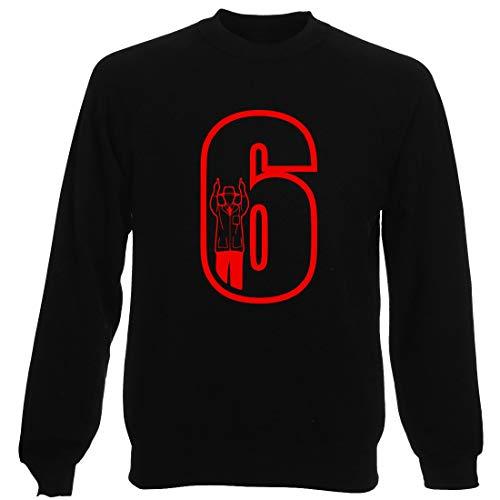 T-Shirtshock Rundhals-Sweatshirt fur Mann Schwarz FUN1092 Cricket Umpire 6 Mens CU