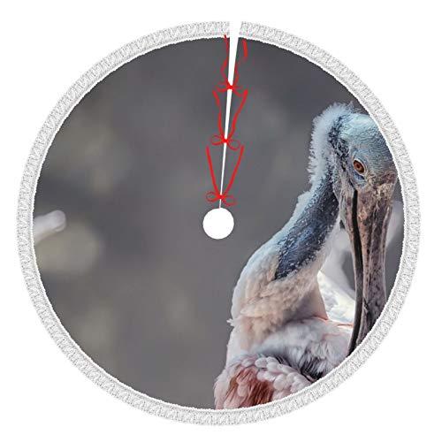 Idéal pour les articles ménagers - Jupes de sapin de Noël - 36 cm - Rosier - Cuillère - Oiseau - Nature - Blanc - Jupes d'arbre - Pour Noël, année - Fête - Décoration de maison