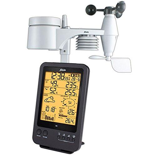Alecto WS-4700 Professioneel weerstation, digitaal, zwart, 13 x 5,4 x 27,8 cm