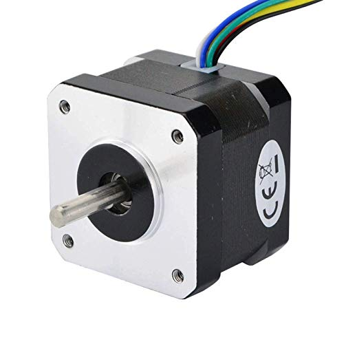 Printer Accessories Dual Shaft 0.9deg Nema 17 Stepper Motor Unipolar 16Ncm(22.7oz.in) 0.3A 6-Lead 42x34mm for CNC XYZ 3D Printer Motor 3D Printing Accessories