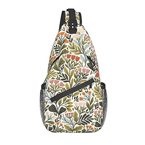 Unisex Sling Bag Daypack Bolso de hombro Mochila Crossbody Paquete Mes de...