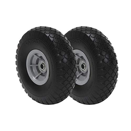 COSCO 10-Inch Flat-Free Replacement Wheel for Hand Trucks, 2-pack