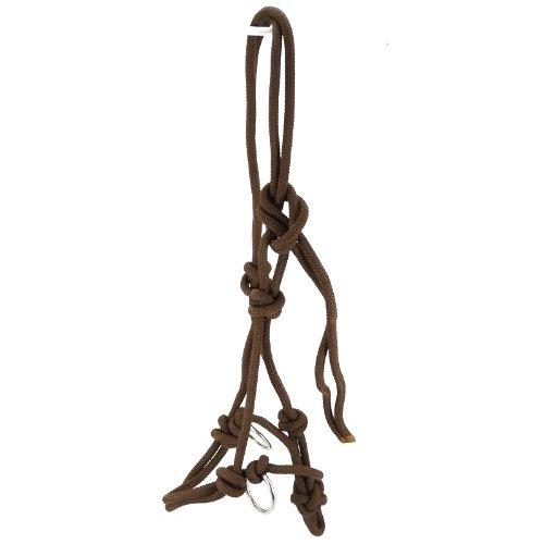 Thor Equine Knotenhalfter mit Ringen aus Edelstahl Halter Reiten Bodenarbeit braun Cob