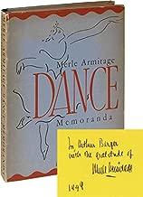 Merle Armitage: Dance Memoranda (Second Edition, inscribed to composer Arthur Berger)