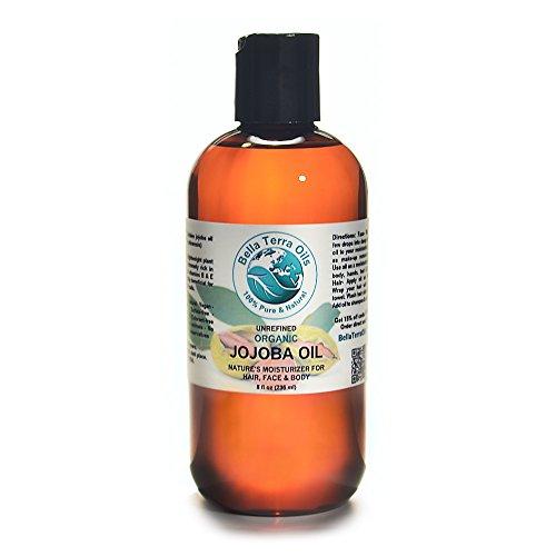 Jojoba Oil 8 oz 100% Pure Coldpressed Unrefined Organic  Bella Terra Oils