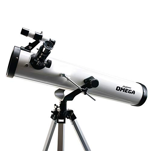 Educational Insights GeoSafari Omega Reflector Telescope, Telescope for Kids & Adults, Supports STEM Learning, Great to Explore Space, Moon, & Stars