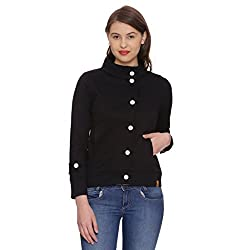 Campus Sutra Womens Plain Jacket