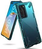 Ringke Fusion-X Diseñado para Funda Huawei P40 Pro (2020), Transparente al Dorso Carcasa Huawei P40 Pro (6.58') Protección Resistente Impactos TPU + PC - Turquoise Green