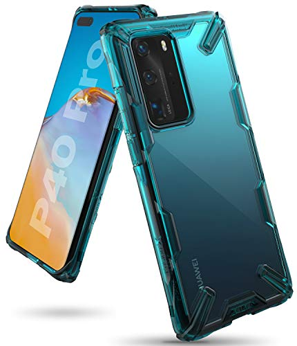 Ringke Fusion X Case Designed for Huawei P40 Pro - Turquoise Green