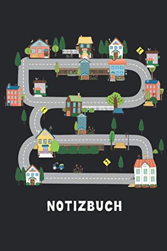 Kinder Spielmatte Notizbuch: Spielteppich Notizbuch - Lustiges Spielßraßen Notizbuch - 120 liniert