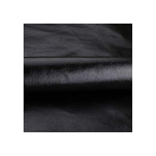 WEIYV-gang Kunstleder,Lederimitat,Leder Stoff Meterware,für Polsterstoff Möbelstoff Schneiderei Kleidung Kleid Bezugsstoff Eckbank Sofa überzug Dekostoff Stühle,100x138cm(Color:03-Black)