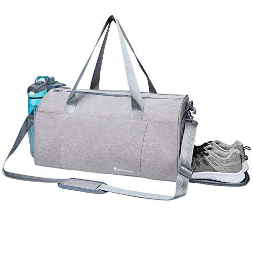Sportsnew Sporttasche mit Nasstasche & Schuhfach Fitness Trainingstasche für Herren und Damen, Gray