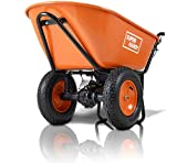 SuperHandy Wheelbarrow Electric Powered Utility Cart Ultra Duty 24V DC 180W AGM Driven 330LBS (150kgs) Capacity & 4 cu.ft. of Cubage Material Debris Hauler (Amazon Exclusive only for USA)