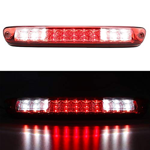 3rd Third Brake Light for 2004-2012 Chevy Chevrolet Colorado / GMC Canyon Cargo Light High Mount LED Tail Lamp (Red Lens)