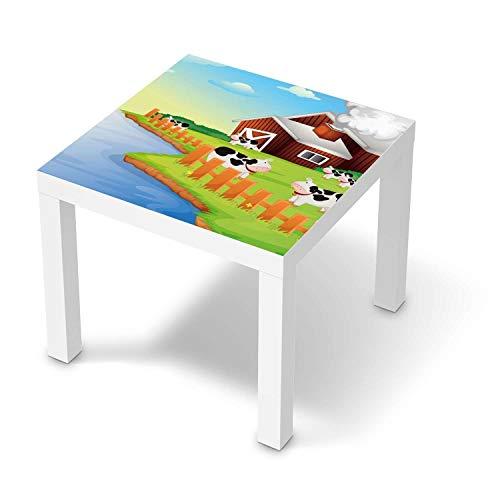 creatisto Möbel-Tattoo für Kinder - passend für IKEA Lack Tisch 55x55 cm I Tolle Möbelsticker für Kinderzimmer Einrichtung I Design: Cowfarm 2