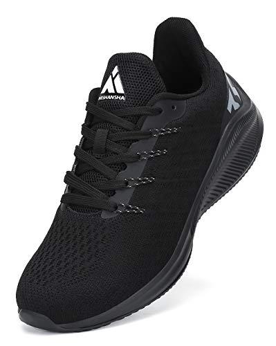 Mishansha Scarpe da Jogging Uomo Antiscivolo Scarpa da Camminare Donna Respirabile Trail Sneakers Nero 37
