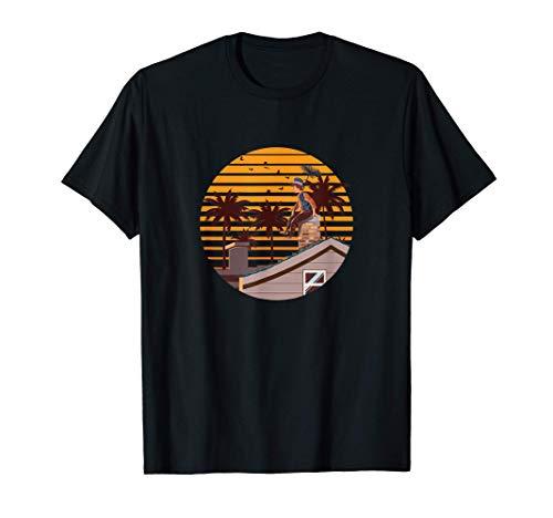 Kaminofen Schornsteinfeger Colley Kaminkehrer Palme T-Shirt