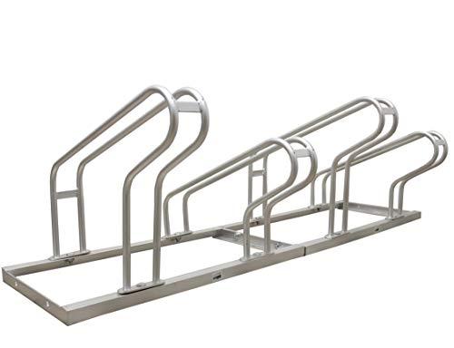 Baumarktplus Fahrradständer 2x3= 6 Fahrräder feuerverzinkt Fahrrad Ständer Aufstellständer Reihenparker 6 Stellplätze Bügelparker Mehrfachständer (6 Fahrräder)