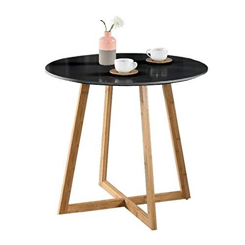 HUIYUAN Opbergrek Houten Ronde Koffietafel Sofa Tafel Kleine Eettafel Keuken Woonkamer Woonkamer Maat: 60 * 60 * 74.5cm