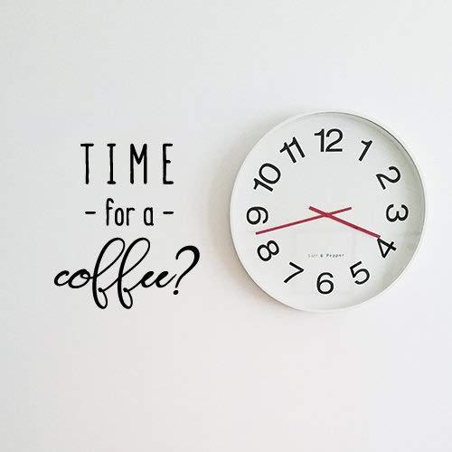 Tijd voor een Koffie Leuke Koffie Muurstickers Keuken Muurstickers Vinyl Muursticker Verwijderbare Muursticker