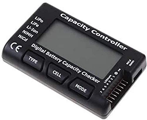 YUNIQUE 57-94DI-DHHL CellMeter-7 Digital Mini Batterie Kapazitaet Checker Fuer LiPo Life Li-Ion NiMH Nicd RC Akkus, Schwarz