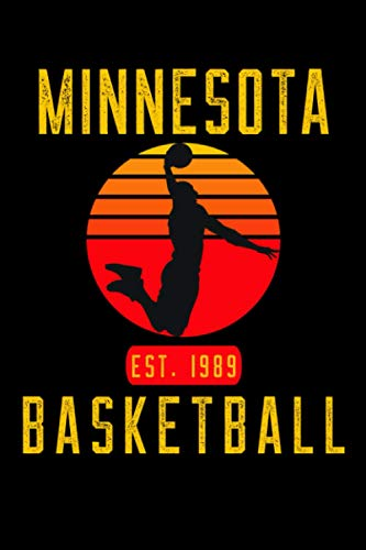 Minnesota Basketball: Retro Sunset Basketball Player Notebook Gift Idea