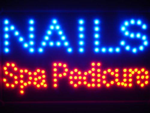 ADV PRO Lampe Neon ENSEIGNE Lumineuse LED led097-b Nails Spa Pedicure LED Neon Sign WhiteBoard