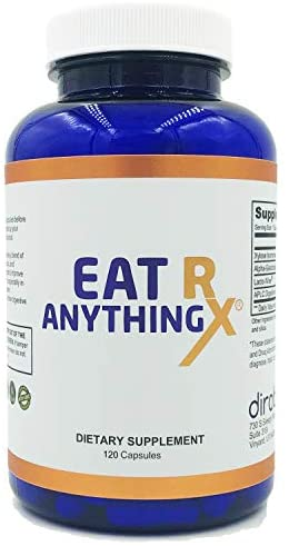 Eat Anything Rx Enzymes Fructose Malabsorption Aid Digestion & More with Prebiotics Probiotics & Xylose Isomerase- Digestion & Lactose Absorption Bloating Gas Relief IBS & Leaky Gut by Dirobi (120)