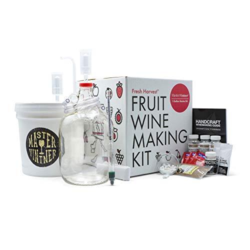 Master Vintner Fresh Harvest Small Batch Fruit Wine Making Kit