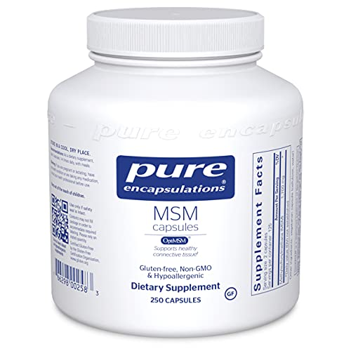 Pure Encapsulations MSM Capsules | Sulfur Supplement to Support Joints, Immune System, Connective Tissue, and Respiratory Health* | 250 Capsules