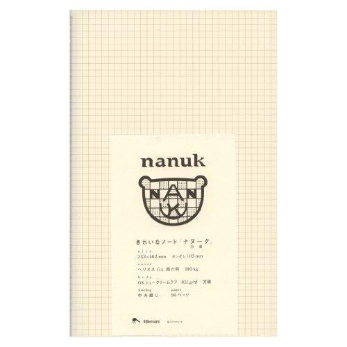 きれいなノート nanuk(ナヌーク) 方眼