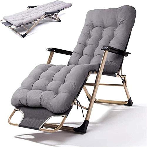 WGFGXQ Recliner Lightweight Sun Lounger Foldable Garden Chairs Set of 2 Folding Reclining Sun Lounger,Outdoor Indoor Garden Zero Gravity Chair with Cotton Pad for,Conservatory or Deck Chair hsvbkwm