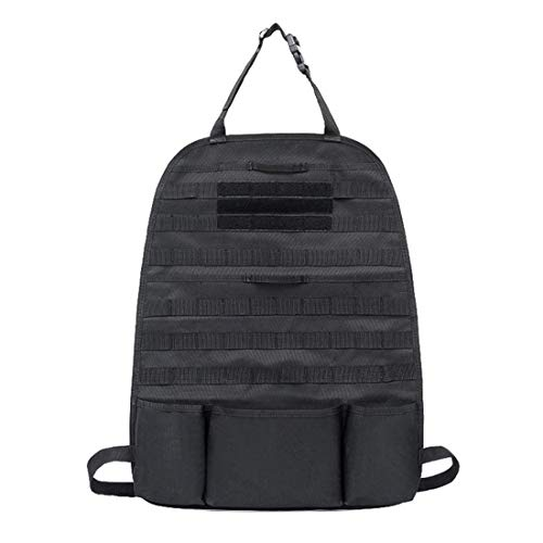 KLUMA シートバックポケット 車用 収納ポケット ドライブポケット 後部座席収納 防水防汚 多機能 耐久性 取り付け簡単 ブラック