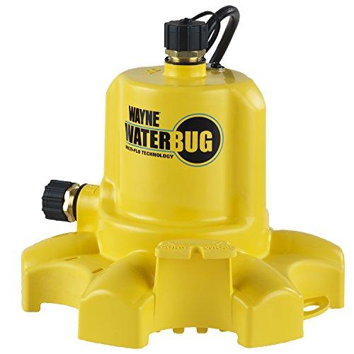 WAYNE WWB WaterBUG Submersible Pump with Multi-Flo Technology,Yellow