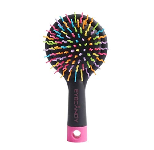 My youth 1P Magic Hair Comb Hot Combs Tangle Haarbürste Styling Werkzeuge Detangler Kamm Professionelle Aufrichtung Detangling Combs Plastic (Color : Round Black)