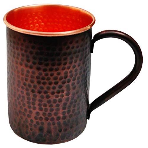 Staglife Straight Mug Moscow Mule Copas y Tazas con Llantas de cobre de oro rosa para hombre, juego de 2 / 20 oz