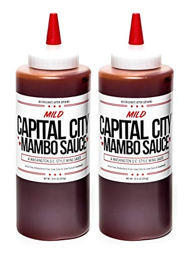 Capital City Mild Mambo Sauce - A Washington DC Wing Sauce (12 oz); Perfect for wings, chicken,...